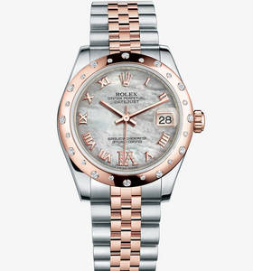 Macasamhail Rolex Datejust Watch Lady 31 : Everose Rolesor - mea
