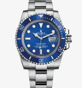 Macasamhail Rolex Submariner Watch Dáta : 18 CT White Gold - M11